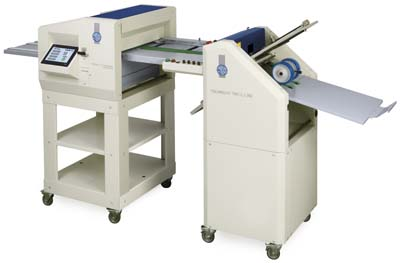 Falzmaschine TriFold360 & Nutmaschine R450-Air